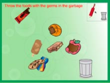 trash in can game